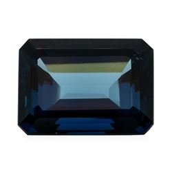 36.96 ct. Natural Emerald Cut London Blue Topaz