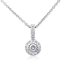 14k White Gold 0.50CTW Diamond Pendant, (I1-I2/H-I)