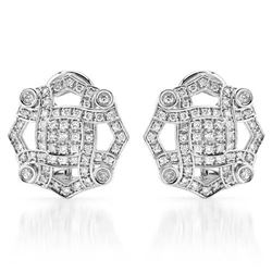 14k White Gold 0.71CTW Diamond Earrings, (SI2-SI3/G-H)