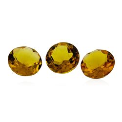 12.02 ctw.Natural Round Cut Citrine Quartz Parcel of Three
