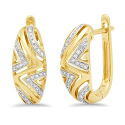 14k Gold 0.15CTW Diamond Earrings, (I1)