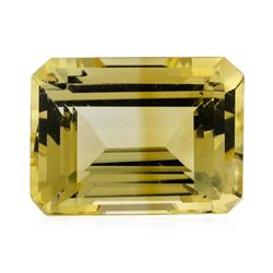 12.34 ct.Natural Emerald Cut Citrine Quartz