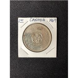 Canada 1864 - 1964 Charlottetown Quebec Silver Dollar Proof Coin