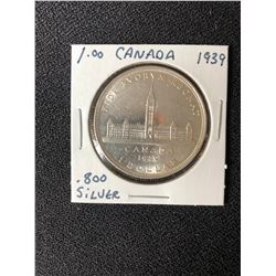 1939 CANADA SILVER DOLLAR - Uncirculated