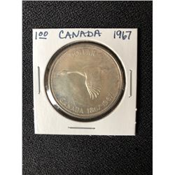 CANADIAN CENTENNIAL 1867-1967 ONE DOLLAR SILVER COIN