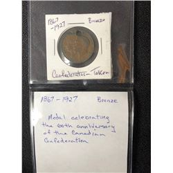 1867-1927 BRONZE CONFEDERATION TOKEN