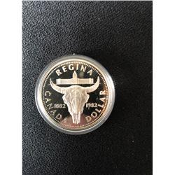 1882-1982 RCM CANADA Regina Centennial Silver Proof One Dollar