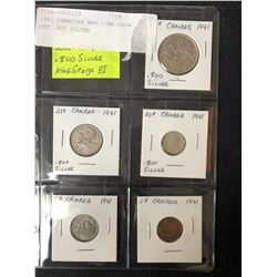 1941 CANADIAN WAR TIME COIN SET (.800 SILVER)