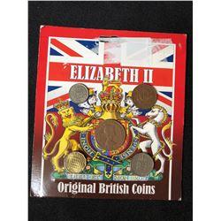 ELIZABETH II ORIGINAL BRITISH COINS