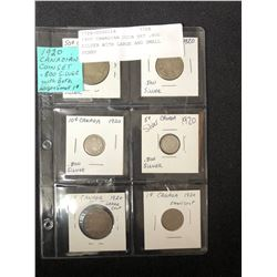 1920 CANADIAN COIN SET (.800 SILVER)