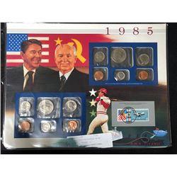 1985 RONALD REAGAN & MIKHAIL GORBACHEV UNCIRCULATED COIN SET