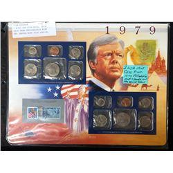 2 USA MINTS SETS FROM 1979 (PHILADELPHIA & DENVER MINT SETS + SPECIAL STAMP)