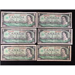 1967 CANADIAN UNCIRCULATED CENTENNIAL ONE DOLLAR BILL LOT