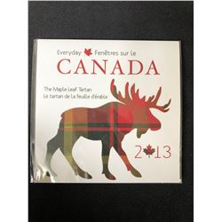 2013 Every Day Canada 50 Cent The Maple Leaf Tartan