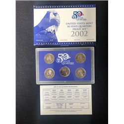 2002 UNITED STATES MINT 50 STATE QUARTERS PROOF SET