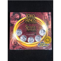 Lord of the Rings- The Two Towers 2002 Reel Coinz 5 Medallions Set
