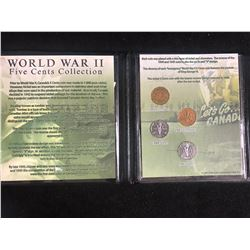 WORLD WAR II FIVE CENTS COLLECTION (THE FIRST COMMEMORATIVE MINT)
