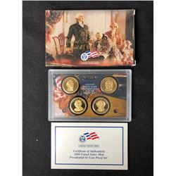 2008 UNITED STATES MINT PRESIDENTIAL $1 COIN PROOF SET W/ COA
