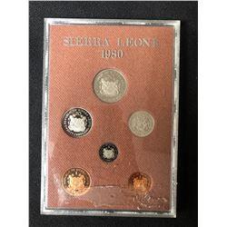 Sierra Leone 1980 Royal Mint Proof Set 6 Coins