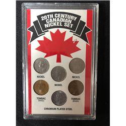 20TH CENTURY CANADIAN NICKEL SET