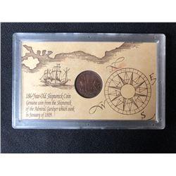 1808 (186-YEAR-OLD SHIPWRECK COIN)