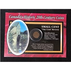 CANADA'S HISTORIC 20TH CENTURY COINS (SMALL CENT - ONE CENT REVERSE) 1935