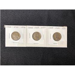 1946 USA 5 CENT COIN LOT