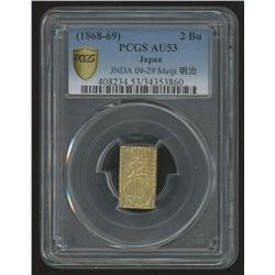 (1868-69) 2 Bu PCGS AU53 Japan -JNDA 09-29 Meija- GOLD COIN