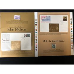 VINTAGE CANADIAN STAMP/ FIRST DAY COVER LOT (JOHN MOLSON/ MOLLY BRANT)