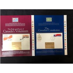 VINTAGE CANADIAN STAMP/ FIRST DAY COVER LOT (PRIDE AND POWER OF CANADIAN VOLUNTEERS/ CONSTITUTION)