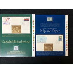 VINTAGE CANADIAN STAMP/ FIRST DAY COVER LOT (CANADA'S MINING HERITAGE/ PULP & PAPER)