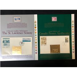 VINTAGE CANADIAN STAMP/ FIRST DAY COVER LOT (ST. LAWRENCE SEAWAY/ PIONEER APOTHECARIES)