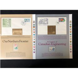 VINTAGE CANADIAN STAMP/ FIRST DAY COVER LOT (OUR NORTHERN FRONTIER/ CANADA'S ENGINEERING)