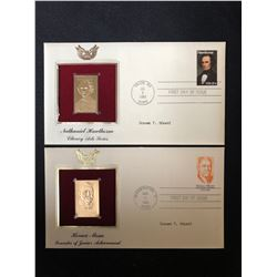 USA 22KT GOLD PLATED REPLICA FIRST DAY COVER LOT