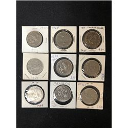 CANADIAN DOLLAR COIN LOT (1968-1975)