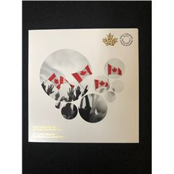 50TH ANNIVERSARY OF THE CANADIAN FLAG 25 CENT COINS (ROYAL CANADIAN MINT)