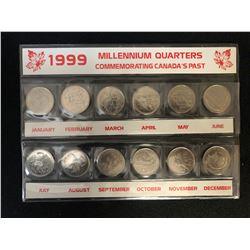 1999 MILLENNIUM QUARTERS COMMEMORATING CANADA'S PAST