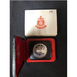 1874-1974 Winnipeg Centennial 100th Anniversary Silver Dollar