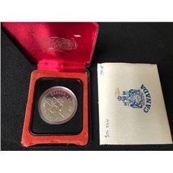 1875-1975 Calgary Centennial 100th Anniversary Silver Dollar