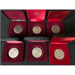CANADIAN SILVER DOLLAR COIN LOT