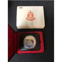 1976 Canada Silver Dollar Library Parliament Commemorative 50% Silver $1 Coin