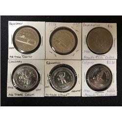 1970-80's ALBERTA TRADE DOLLARS LOT