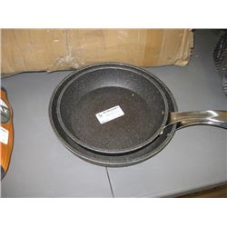 USED ROCK FRY PANS SET OF 2