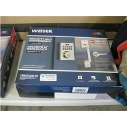 USED WEISER SECURITY LOCK AND HANDSET COMBO PACK