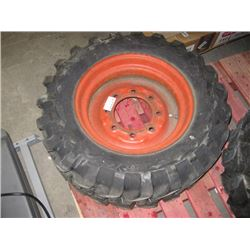USED GOOD YEAR 10-16.5 TIRE WITH RIM