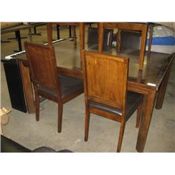 USED DINING TABLE AND 6 CHAIRS