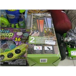 USED PARADISE 2 SOLAR TORCH LIGHTS