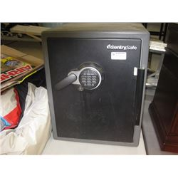 USED SENTRY SAFE DIGITAL SAFE NO CODE NO KEY