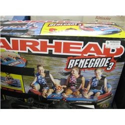 USED AIRHEAD RENEGADE 3 PERSON BLOW UP POWER TUBE