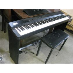 USED PRIVIA CASIO PIANO WITH BENCH